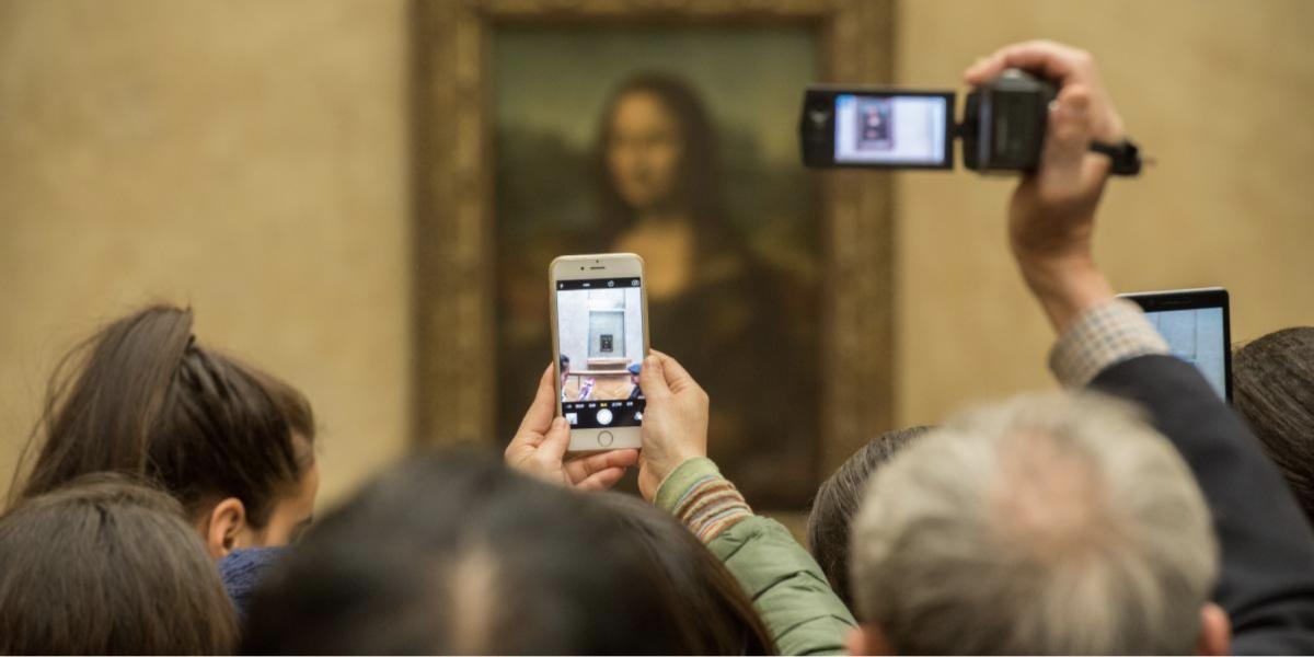 Mona Lisa in het Louvre, Parijs
