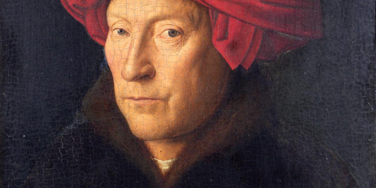 Portret van een man door Jan van Eyck