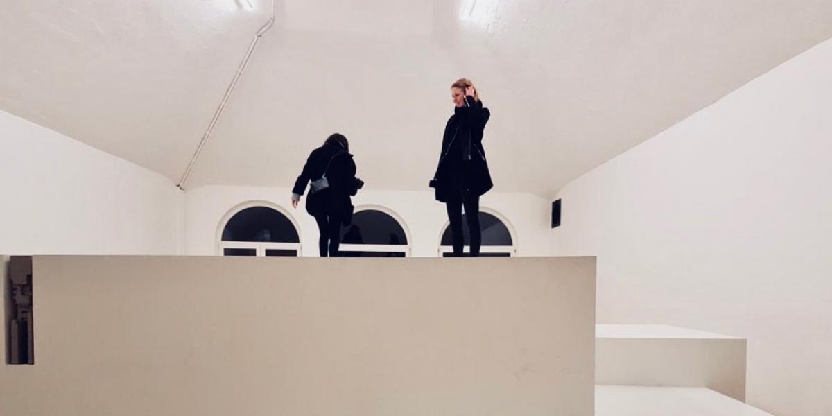Vrouwen in museum