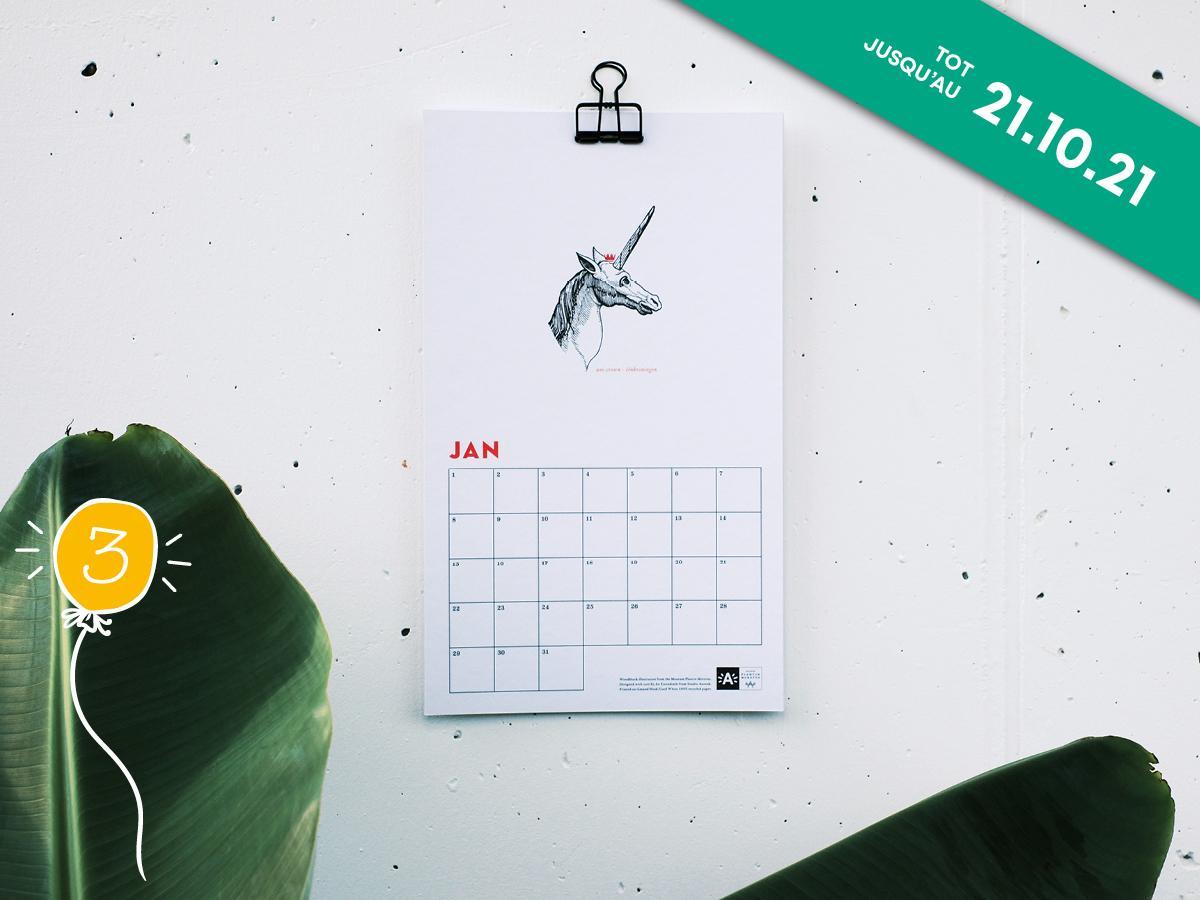 calendrier d'anniversaire Plantin-Moretus