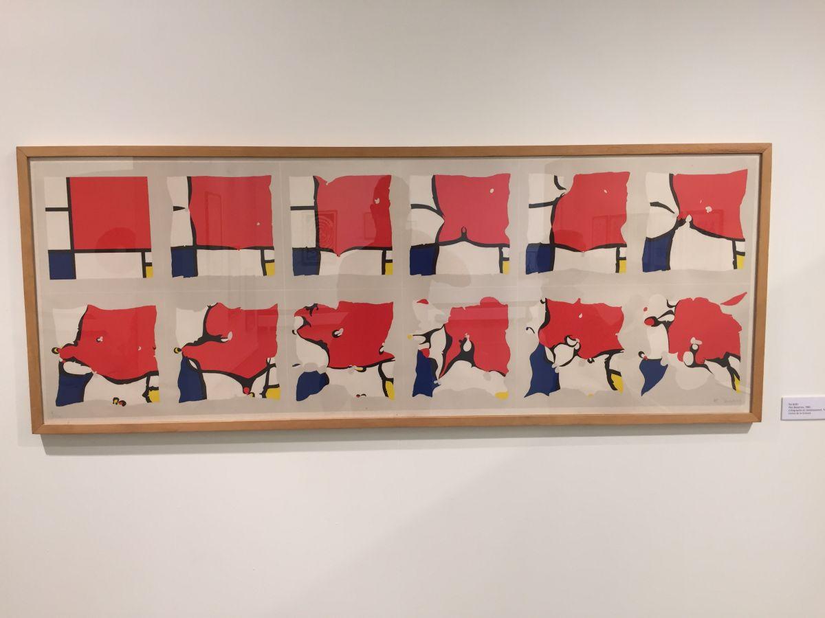 Mondrian par Pol Bury.