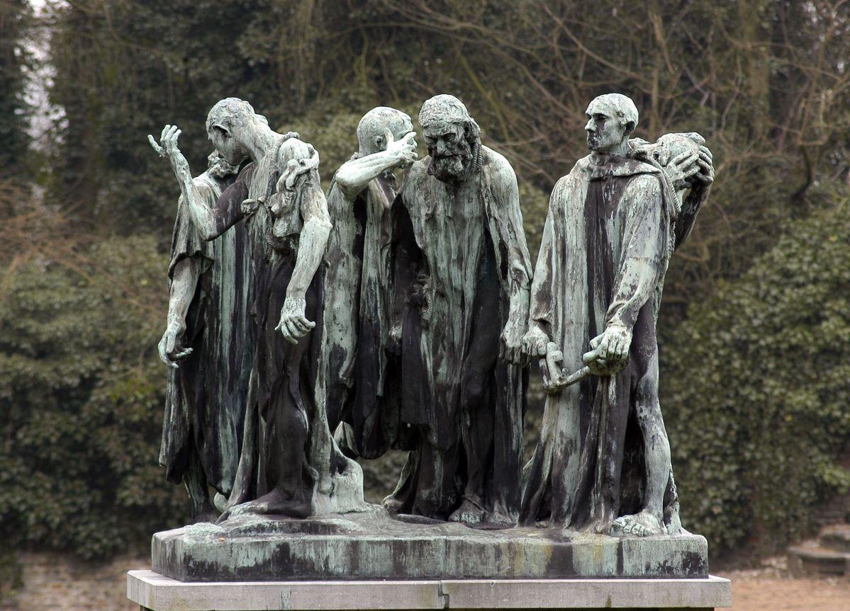 Musée royal de Mariemont – Numéro d'inventaire III.A.37 – Auguste Rodin, Les bourgeois de Calais, 1884-1889, bronze, 2,31 m x 2,45 m x 2,03 m.