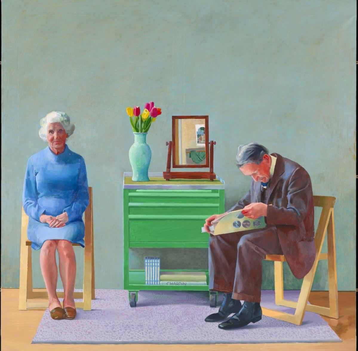 David Hockney - 'My Parents'
