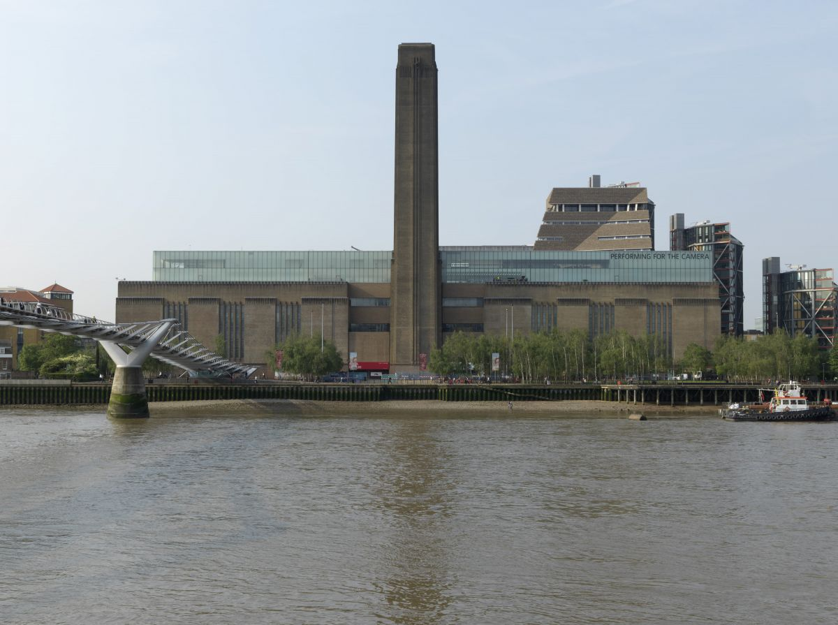 Tate Photography – Tate Modern exterior from  the North Bank.