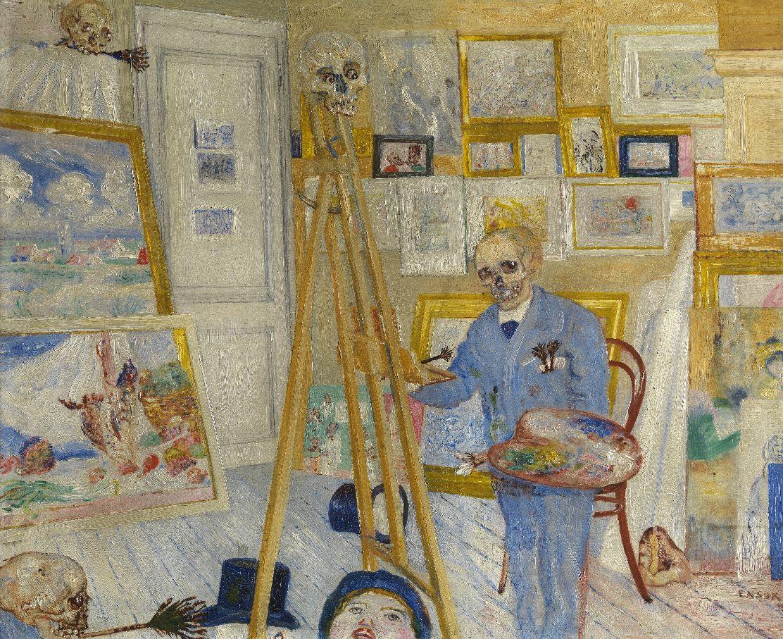 James Ensor, KMSKA (temporairement à Mu.ZEE): le peintre, claqué après les fêtes